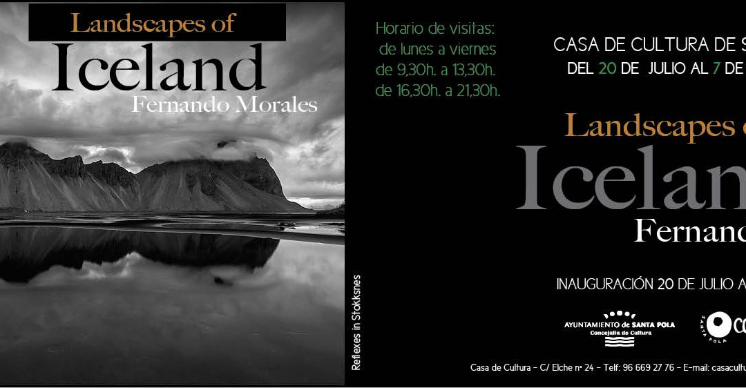 """Exposición """"Landscape of Iceland"""" Fernando Morales"""
