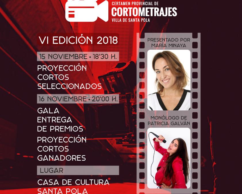 VI Certamen Provincial de Cortos Santa Pola 2018
