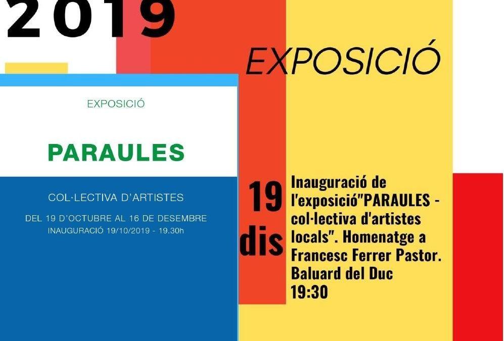 Exposició PARAULES Col.lectiva d'Artistes