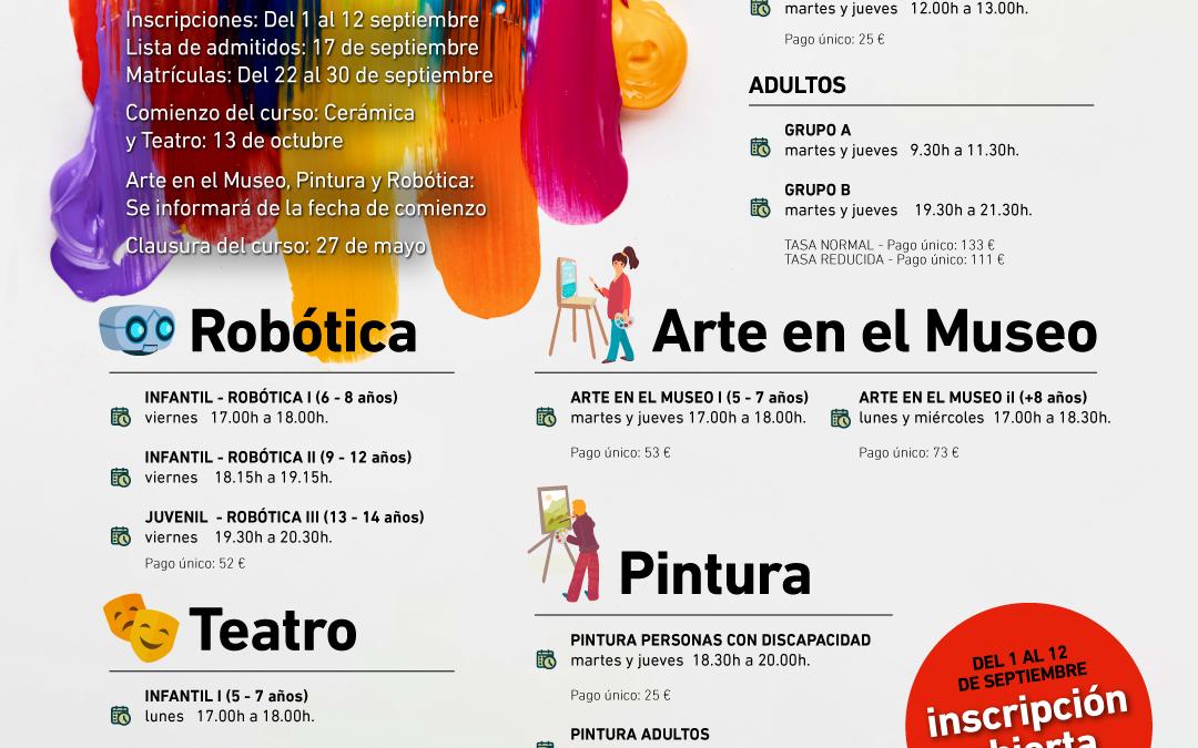 Talleres Artísticos. Invierno 2021 – 22